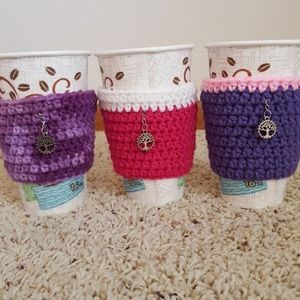 Other - NWOT Hand crocheted coffee cup koozies